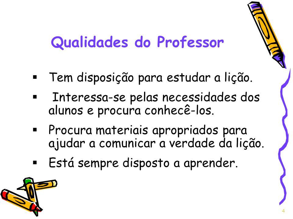 Qualidades do Professor