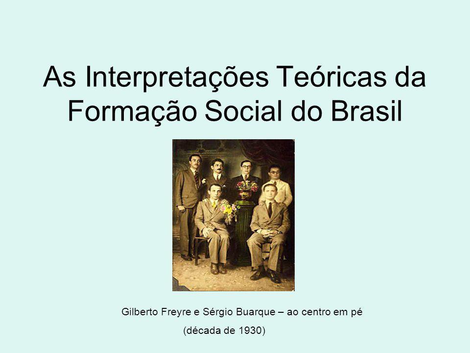 As Interpretações Teóricas da Formação Social do Brasil