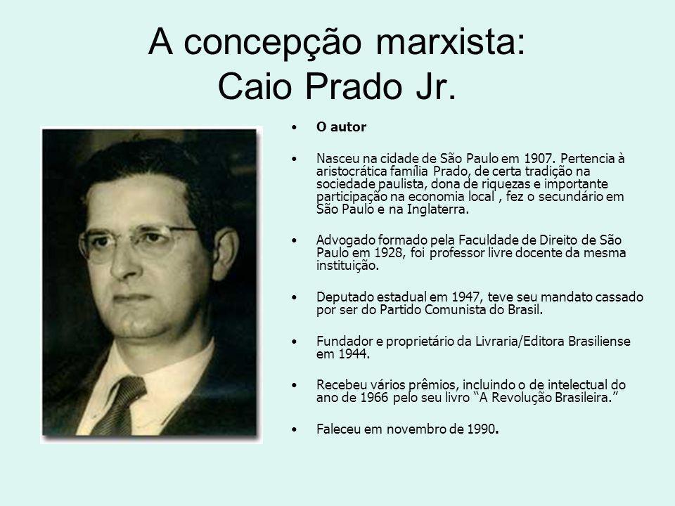 A concepção marxista: Caio Prado Jr.