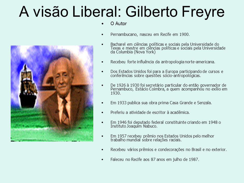 A visão Liberal: Gilberto Freyre