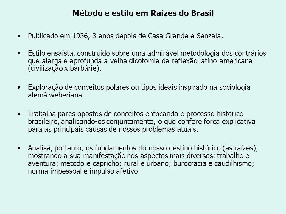 Método e estilo em Raízes do Brasil