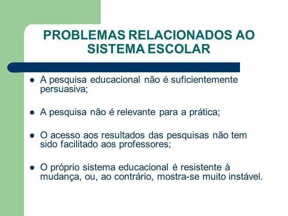 PROBLEMAS RELACIONADOS AO SISTEMA ESCOLAR