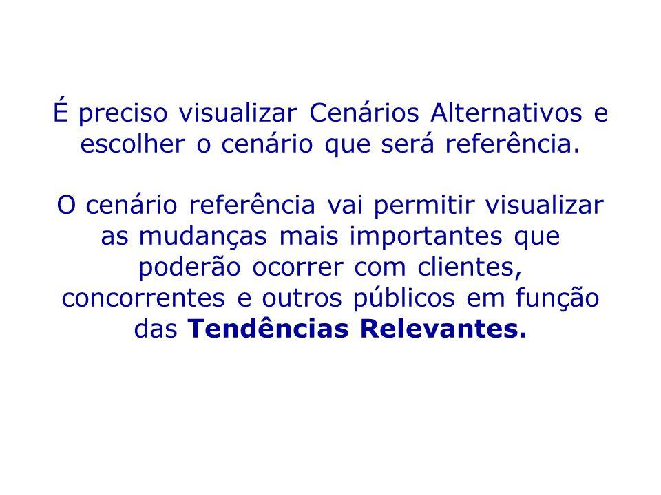 É preciso visualizar Cenários Alternativos e escolher o cenário que será referência.