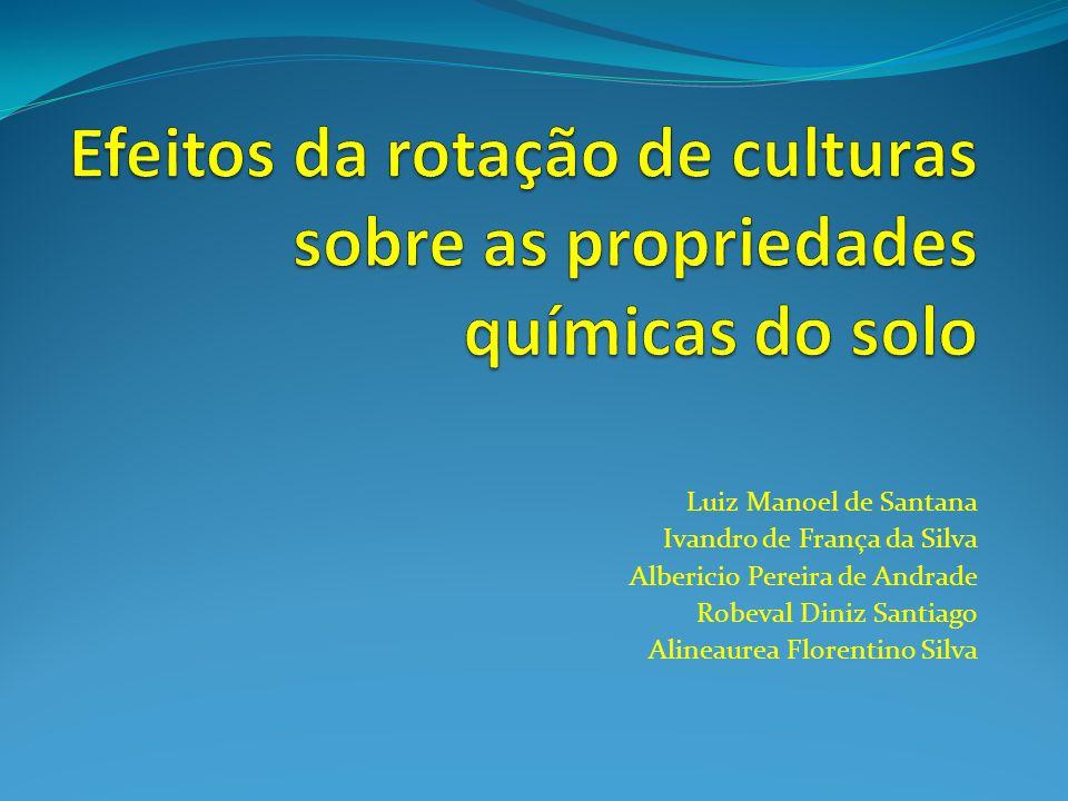 Efeitos da rotação de culturas sobre as propriedades químicas do solo