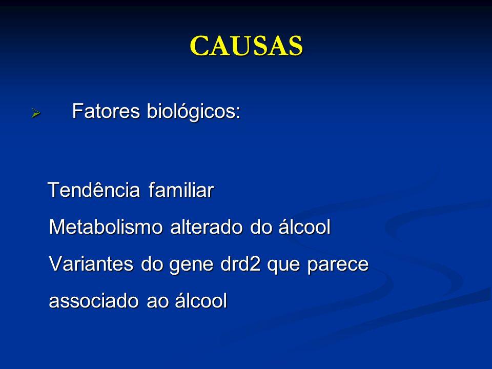 CAUSAS Fatores biológicos: