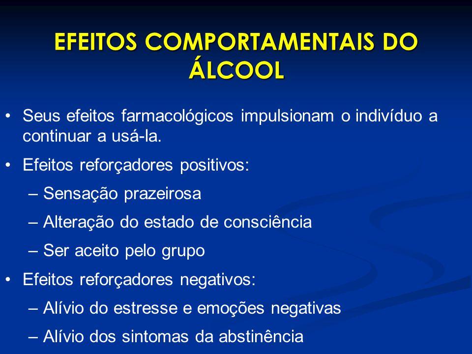 EFEITOS COMPORTAMENTAIS DO ÁLCOOL