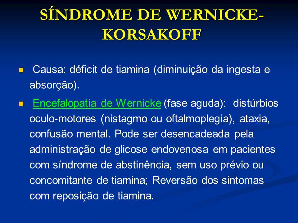 SÍNDROME DE WERNICKE-KORSAKOFF