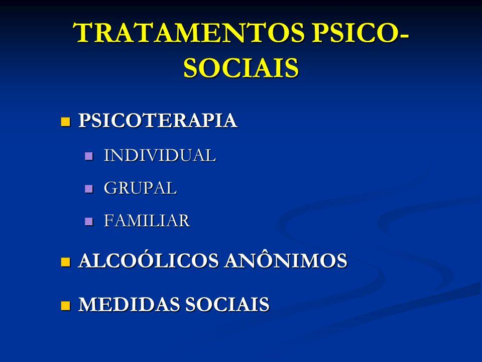 TRATAMENTOS PSICO-SOCIAIS
