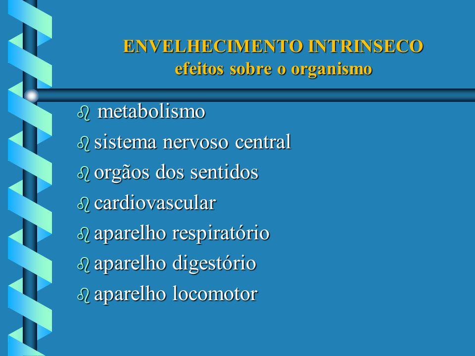 ENVELHECIMENTO INTRINSECO efeitos sobre o organismo