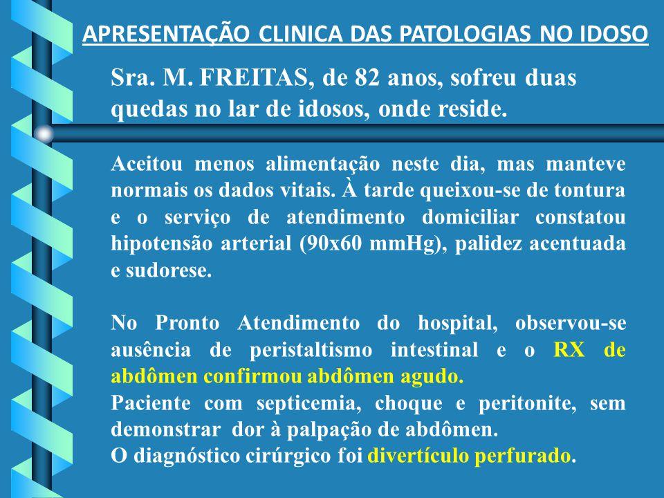 APRESENTAÇÃO CLINICA DAS PATOLOGIAS NO IDOSO