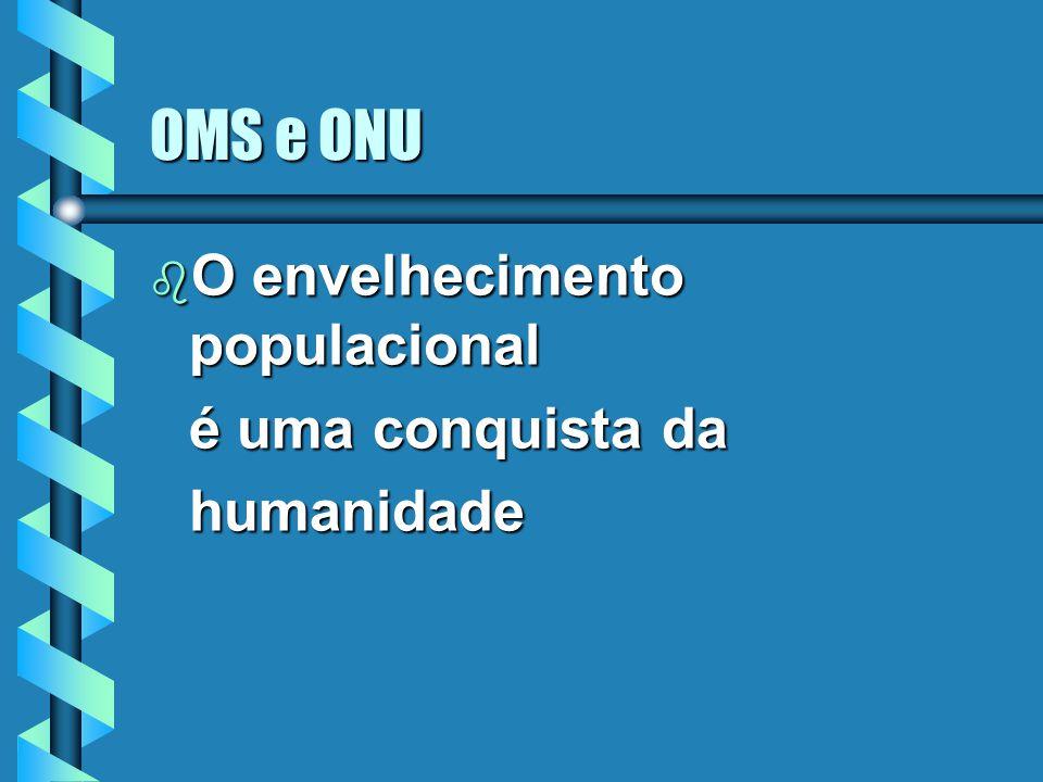 OMS e ONU O envelhecimento populacional é uma conquista da humanidade