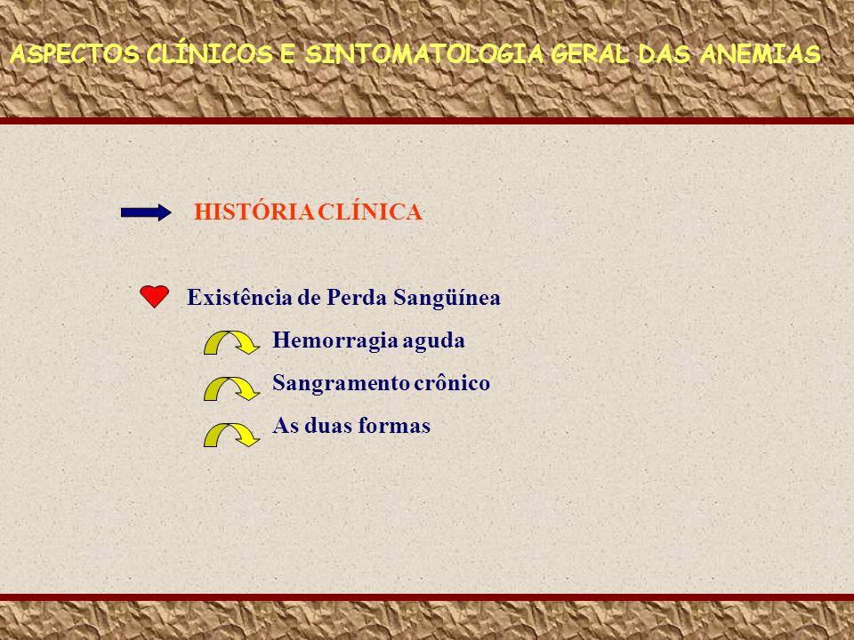 ASPECTOS CLÍNICOS E SINTOMATOLOGIA GERAL DAS ANEMIAS