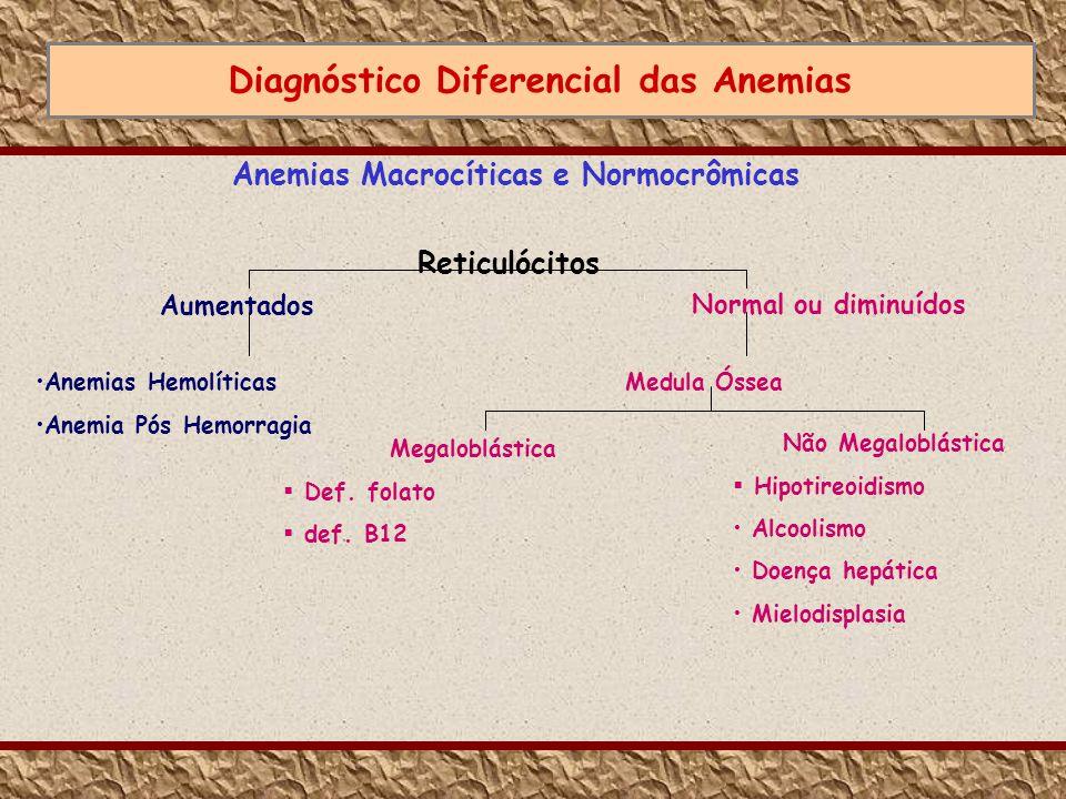 Diagnóstico Diferencial das Anemias