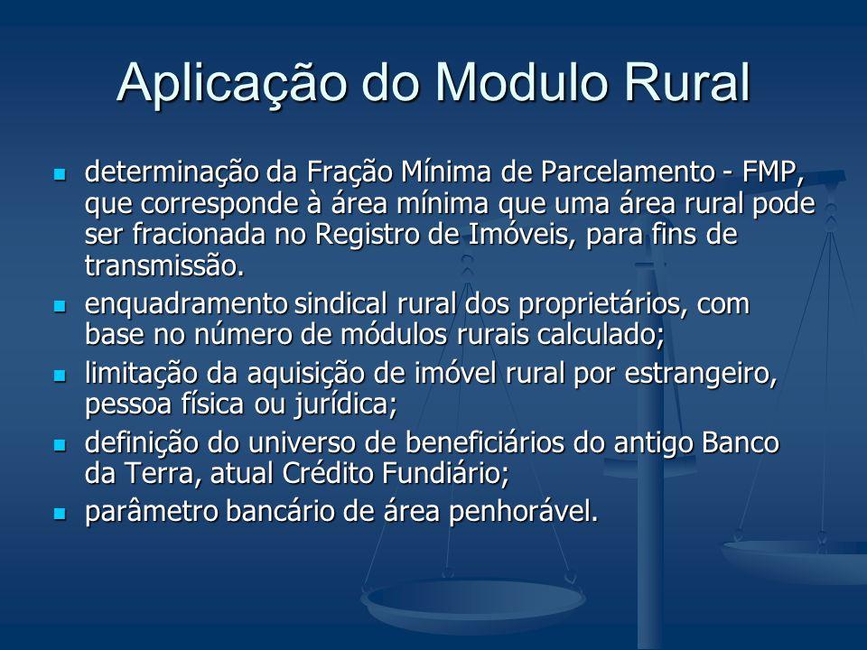 Aplicação do Modulo Rural