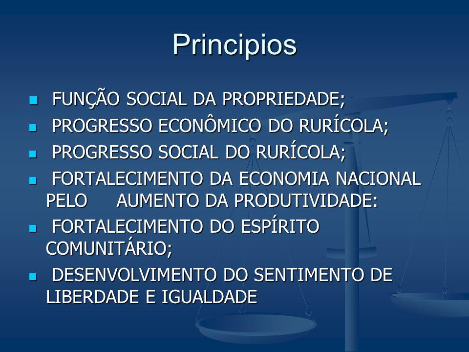 Principios FUNÇÃO SOCIAL DA PROPRIEDADE;
