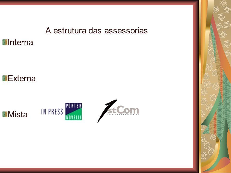 A estrutura das assessorias