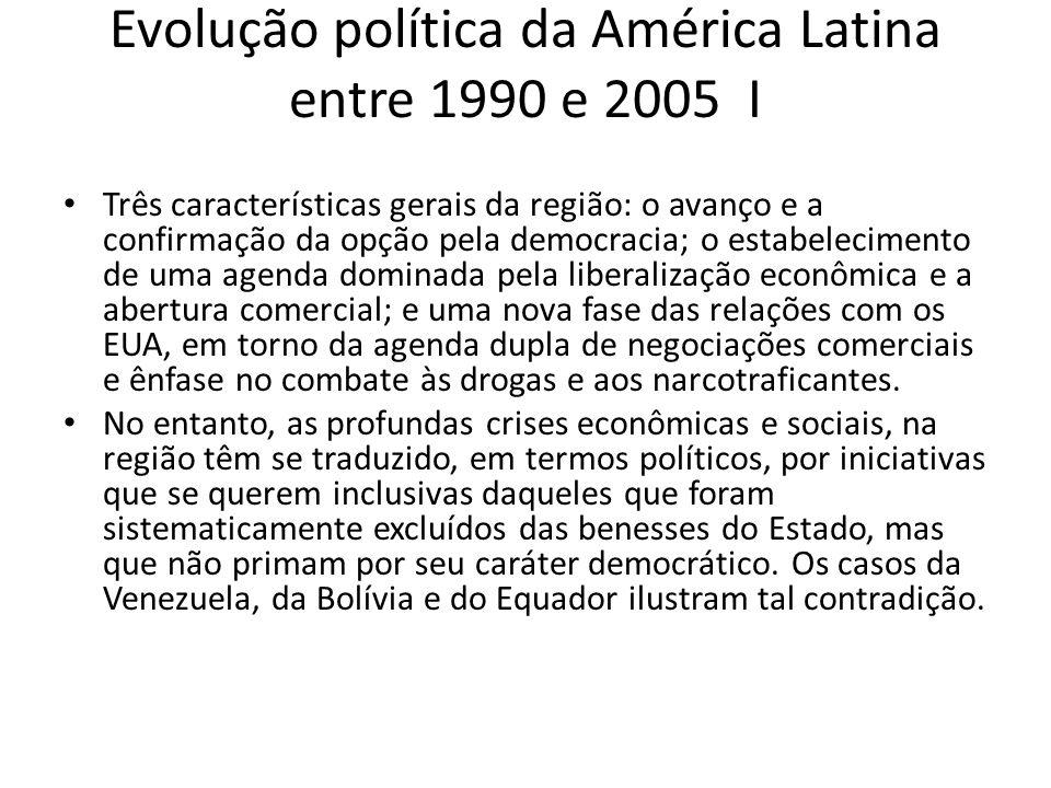 Evolução política da América Latina entre 1990 e 2005 I