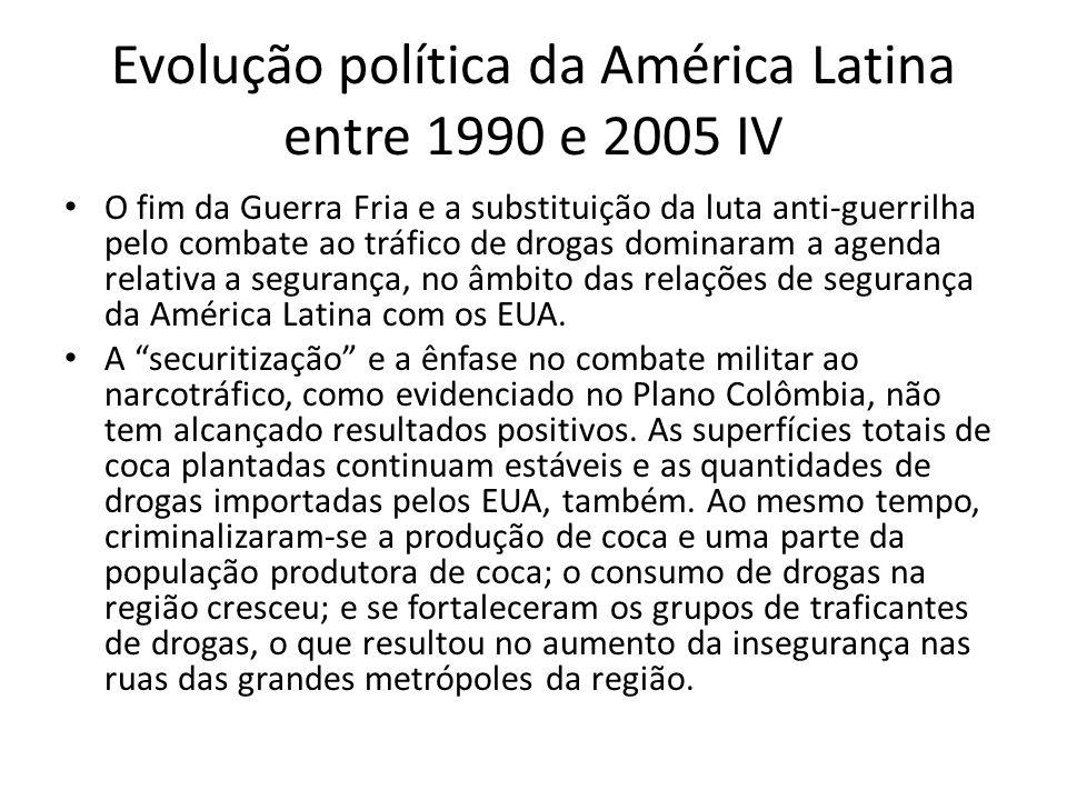 Evolução política da América Latina entre 1990 e 2005 IV