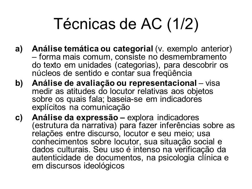 Técnicas de AC (1/2)