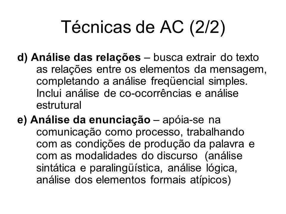 Técnicas de AC (2/2)