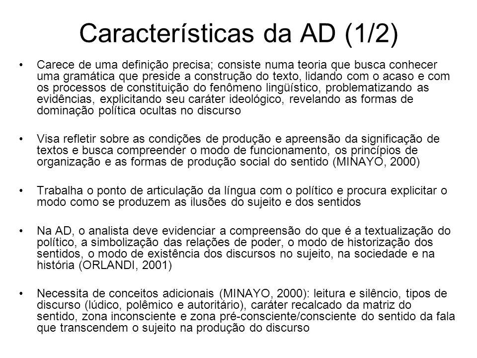 Características da AD (1/2)