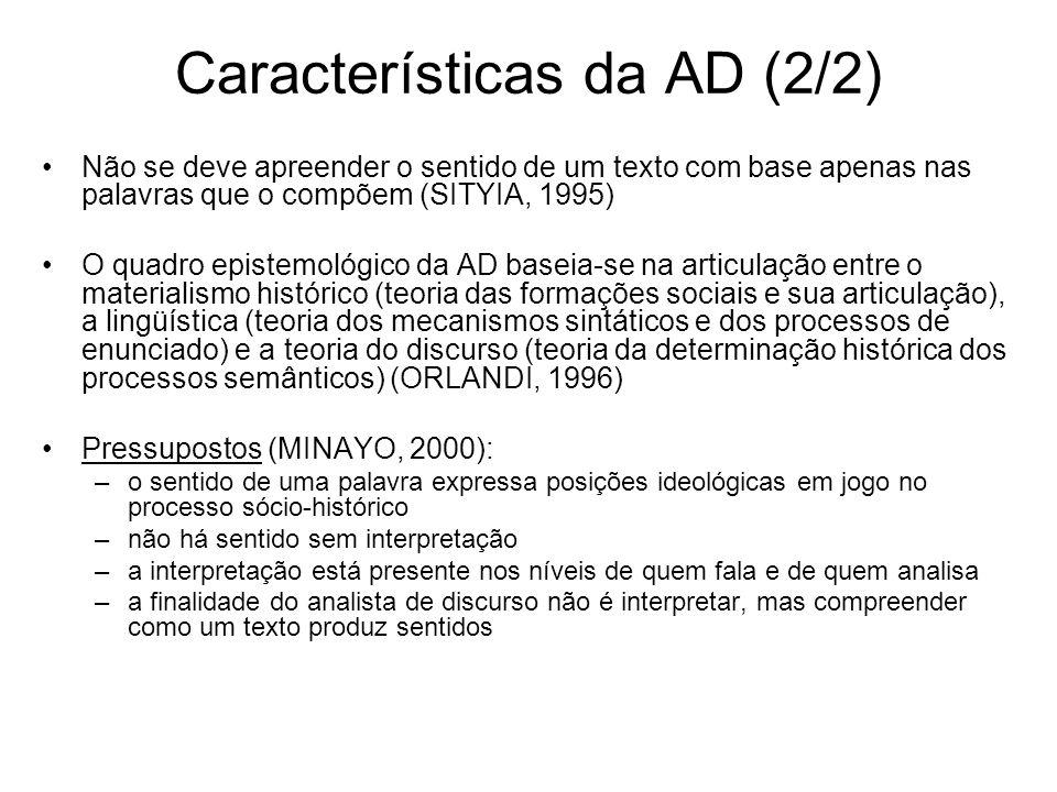 Características da AD (2/2)