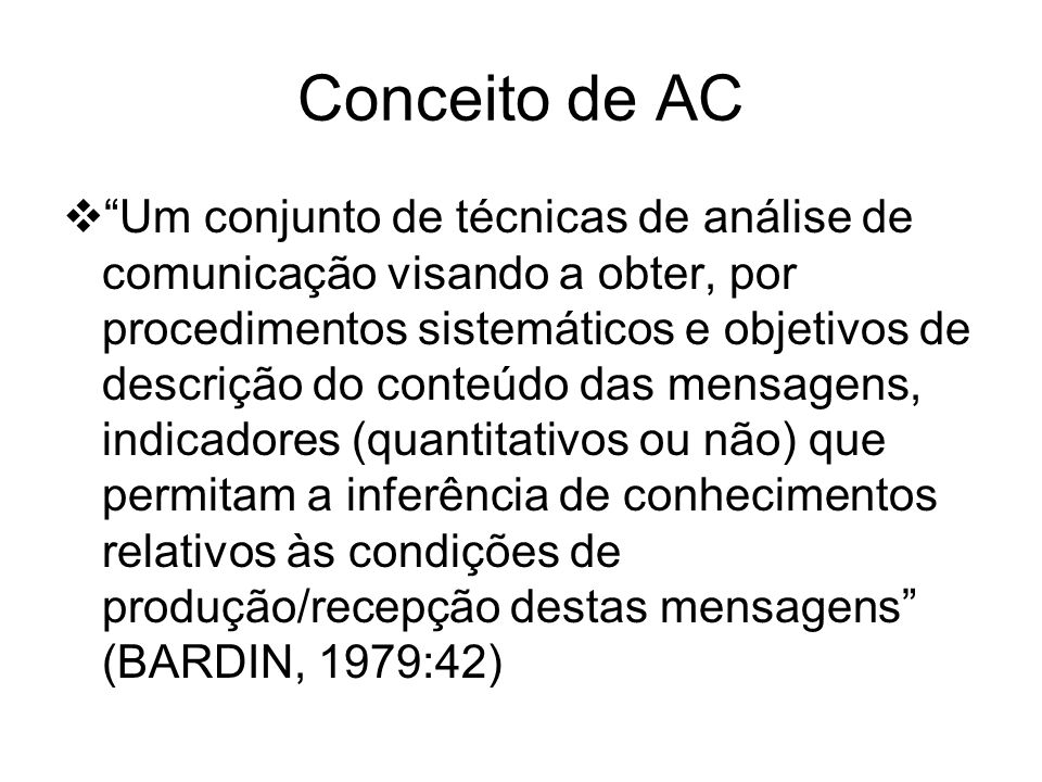Conceito de AC