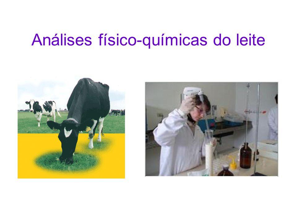 Análises físico-químicas do leite