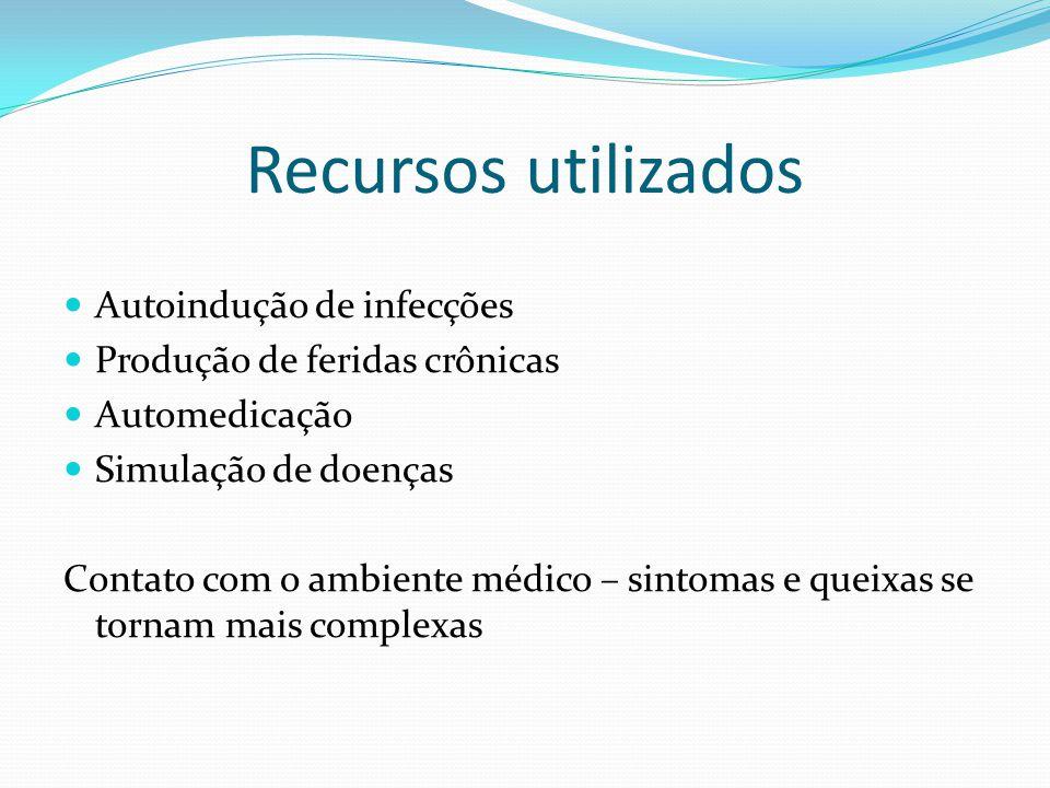 Recursos utilizados Autoindução de infecções