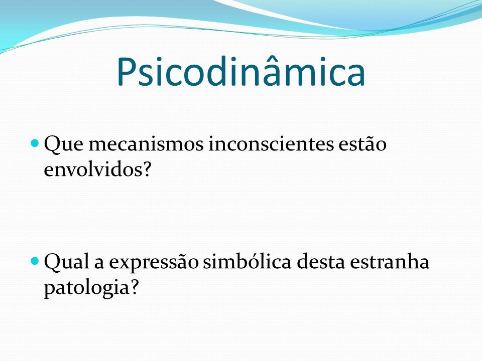 Psicodinâmica Que mecanismos inconscientes estão envolvidos