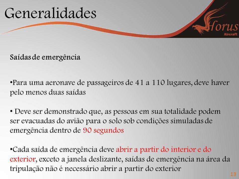 Generalidades Saídas de emergência
