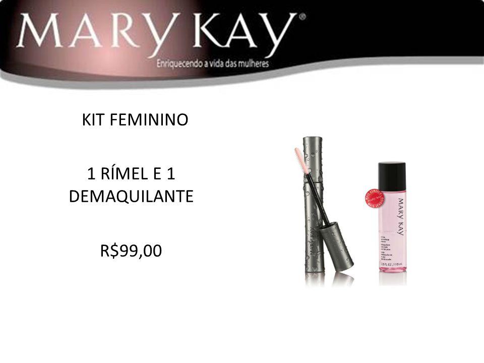 KIT FEMININO 1 RÍMEL E 1 DEMAQUILANTE R$99,00