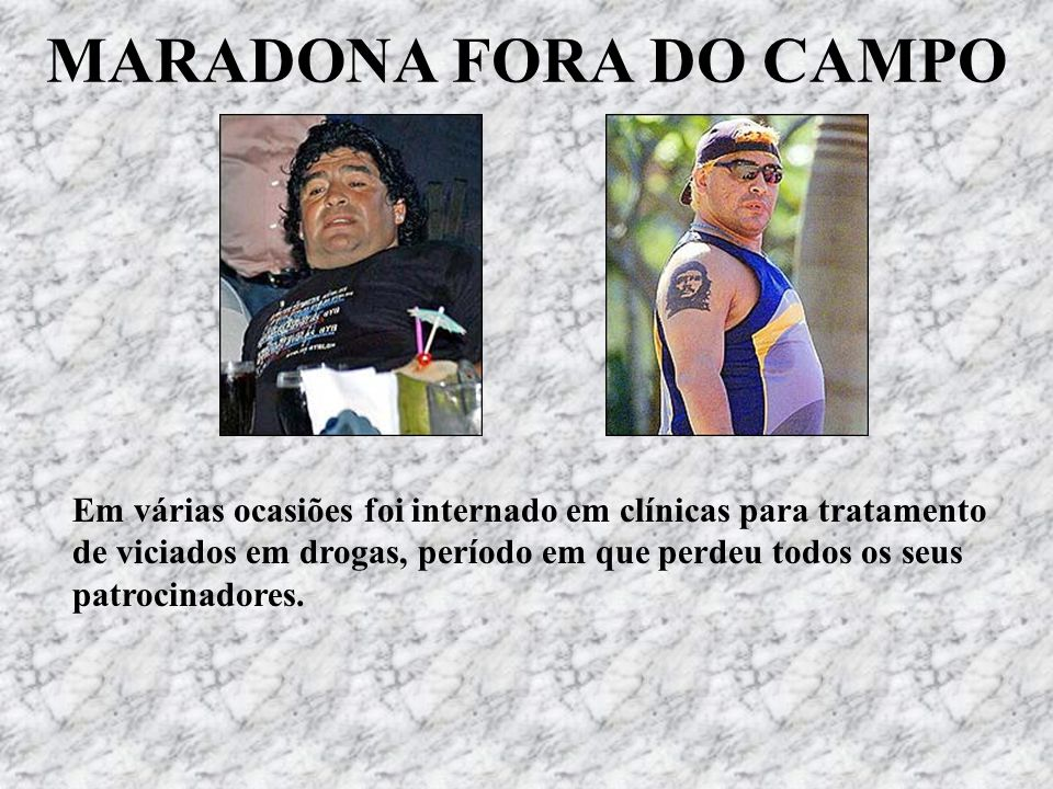 MARADONA FORA DO CAMPO