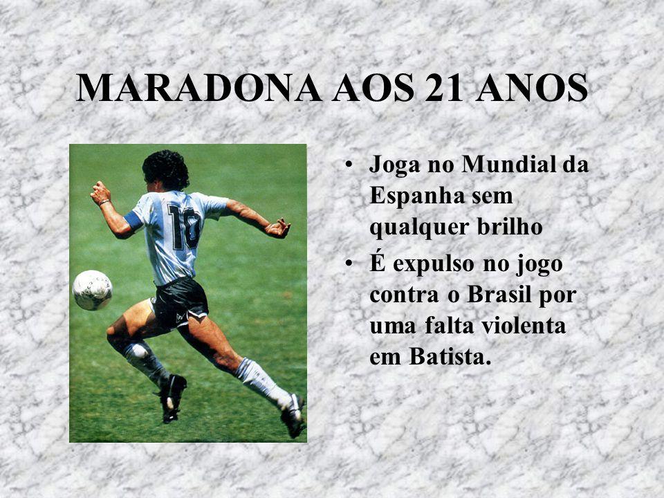 MARADONA AOS 21 ANOS Joga no Mundial da Espanha sem qualquer brilho