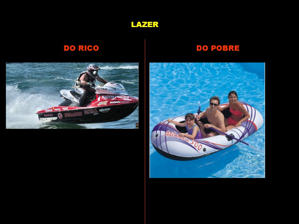 LAZER DO RICO DO POBRE