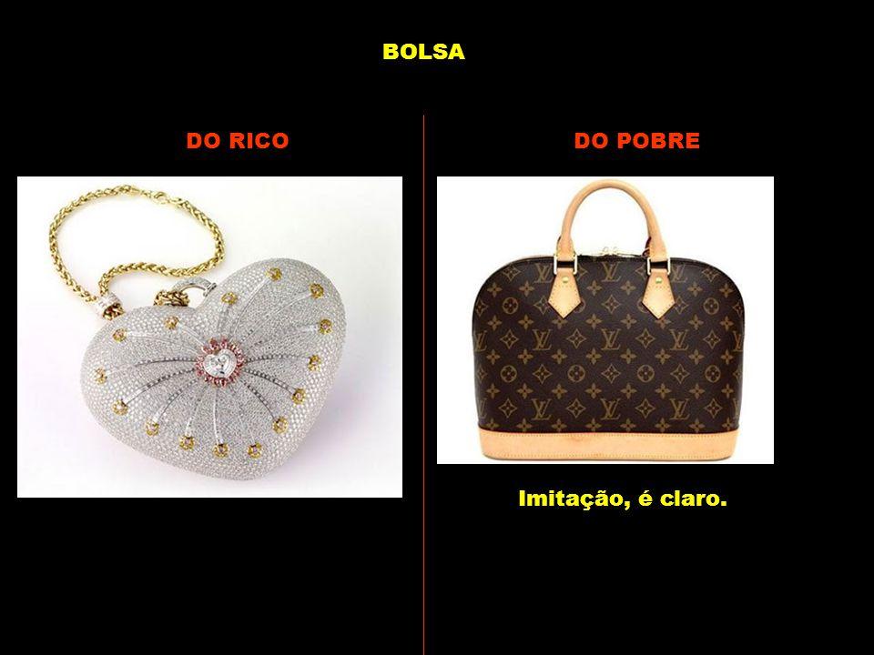 BOLSA DO RICO DO POBRE Imitação, é claro.