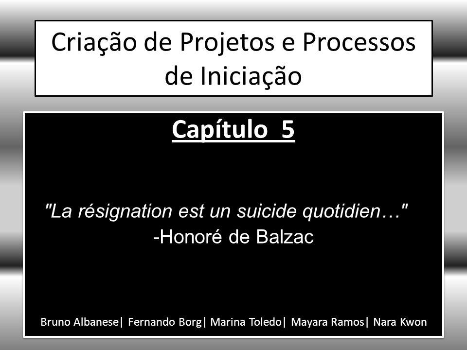 Criação de Projetos e Processos de Iniciação