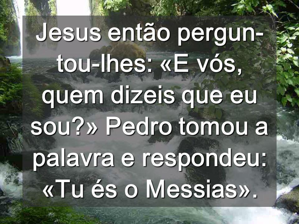 Jesus então pergun-tou-lhes: «E vós, quem dizeis que eu sou