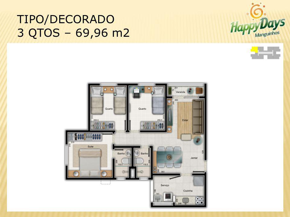 TIPO/DECORADO 3 QTOS – 69,96 m2