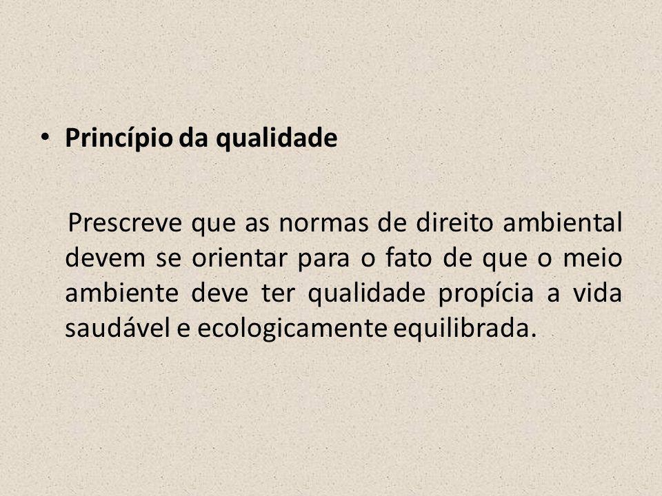 Princípio da qualidade
