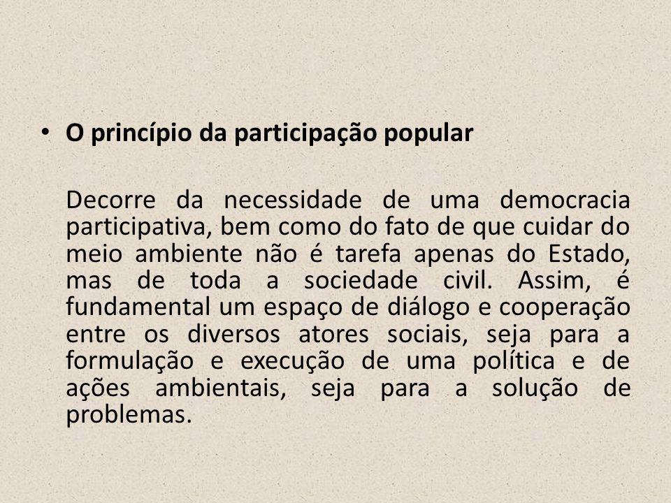 O princípio da participação popular