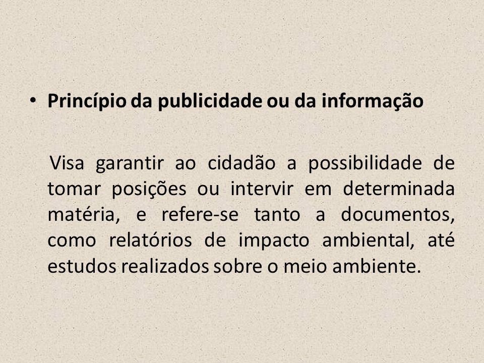 Princípio da publicidade ou da informação