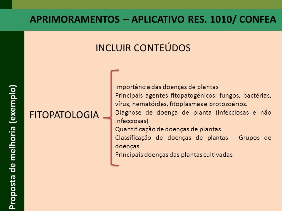 APRIMORAMENTOS – APLICATIVO RES. 1010/ CONFEA