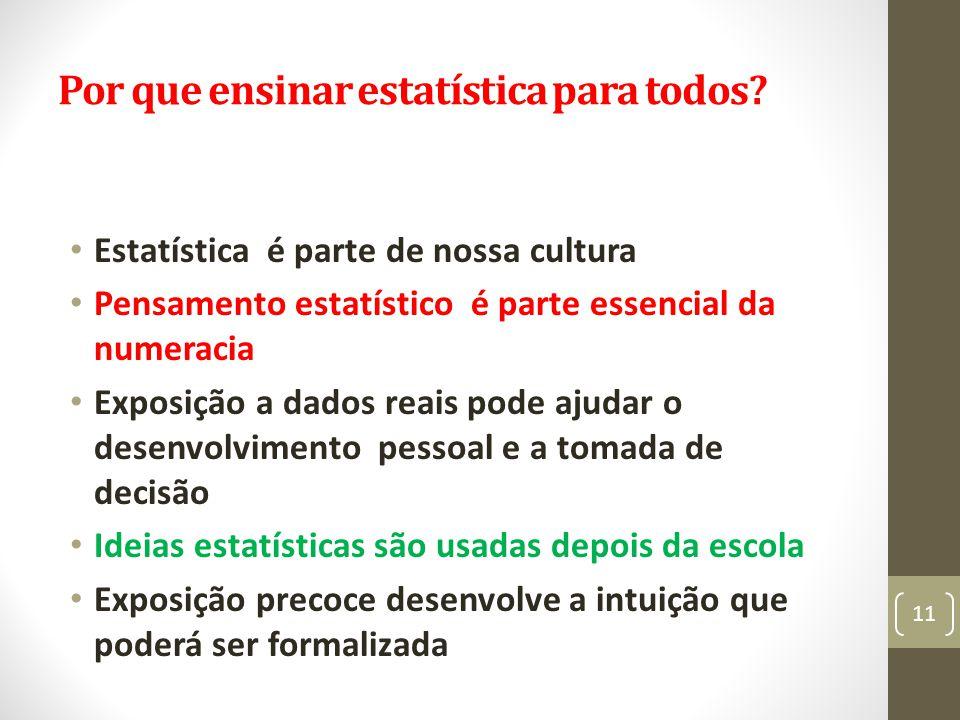 Por que ensinar estatística para todos