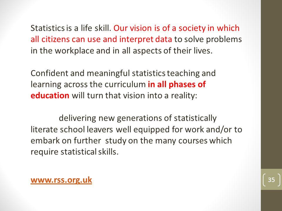 Statistics is a life skill