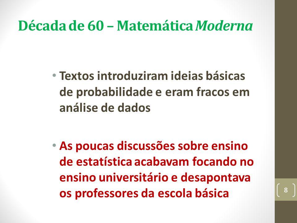 Década de 60 – Matemática Moderna