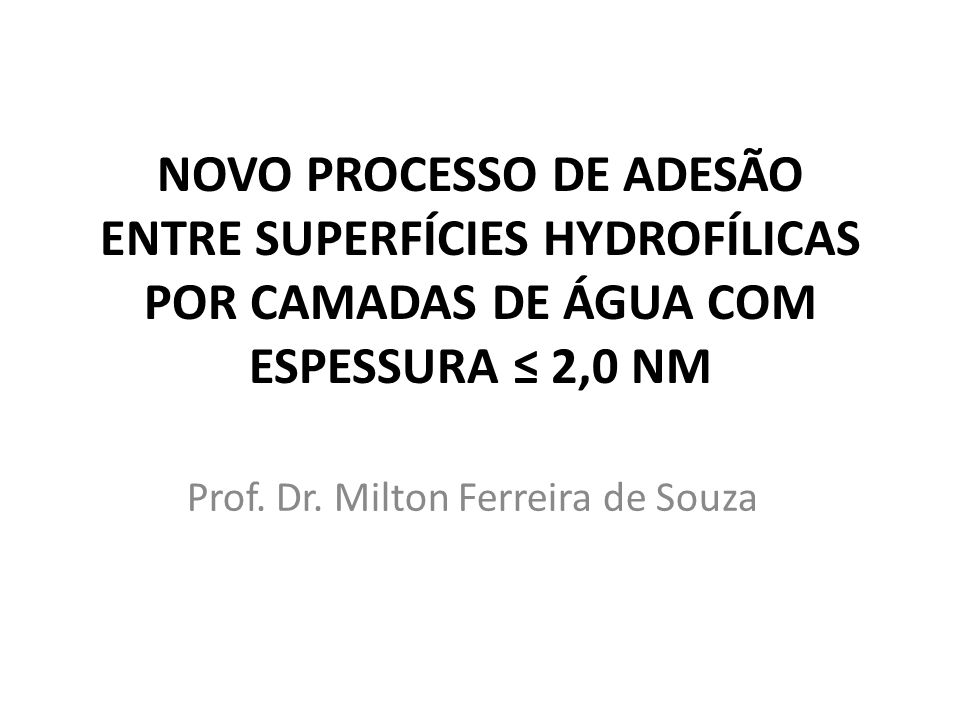 Prof. Dr. Milton Ferreira de Souza