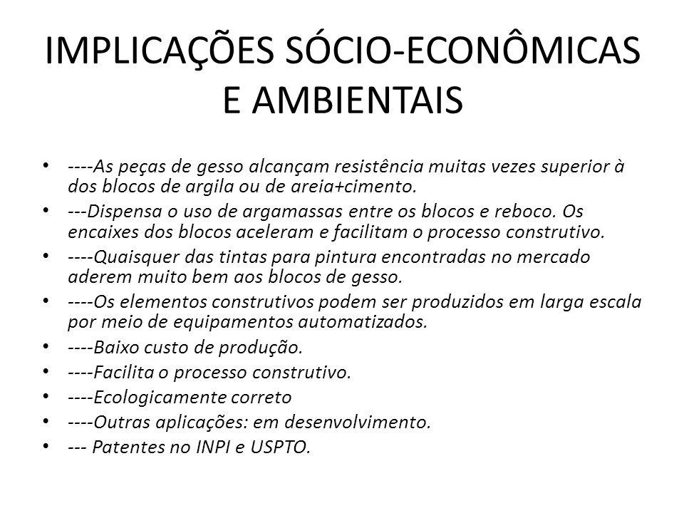 IMPLICAÇÕES SÓCIO-ECONÔMICAS E AMBIENTAIS