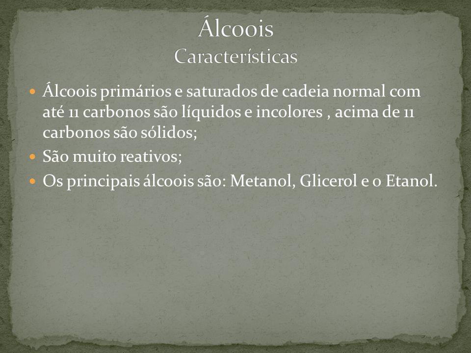 Álcoois Características