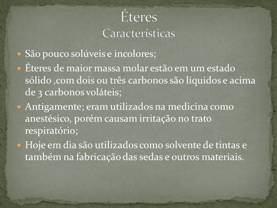 Éteres Características